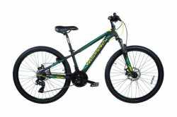 """Велосипед Comanche Ontario Disc, рама 13"""", 15"""", черный-зеленый."""