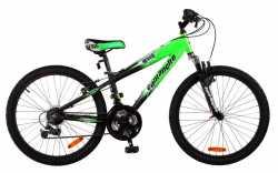 """Велосипед Comanche Indigo New green-black 11""""."""