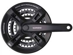 Шатуны Shimano FC-M171 170мм, 48X38X28, с защитой