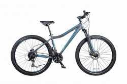 """Велосипед Comanche Orinoco 27 Comp L, 16"""", серо-бирюзовый."""