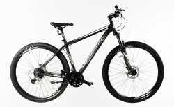 """Велосипед Comanche Tomahawk 29, 21"""", серый-золотой."""
