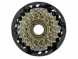 Трещетка Shimano 7 скоростей MF-TZ500-7-CP TOURNEY 14-28Т пластиковая защита.