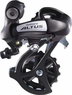 Перемикач задній Shimano Altus RD-M310 7/8 швидкостей довгий важіль чорний.