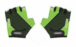 Рукавички дитячі Onride Gem чорний-зелений 11-12 років.