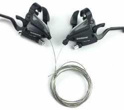 Моноблоки Shimano ST-EF-500 3х7, трос, чорний. ОЕМ