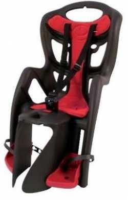 Сиденье задн. Bellelli Pepe Сlamp (на багажник) до 22кг, серое с красной подкладкой.