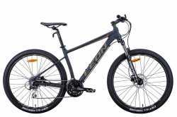 """Велосипед Leon XC-80 AM HDD 27.5"""" чорний з хакі 18"""" 2021."""
