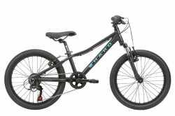 "Велосипед 10"" Haro 2020 Flightline 20"" Matte Black / Aqua."