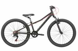 "Велосипед 11"" Haro 2020 Flightline 24"" Matte Black / Red."